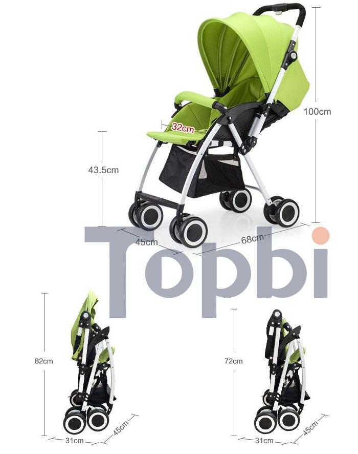 Xe đẩy cho bé 2 chiều TOPBI A08-1 10