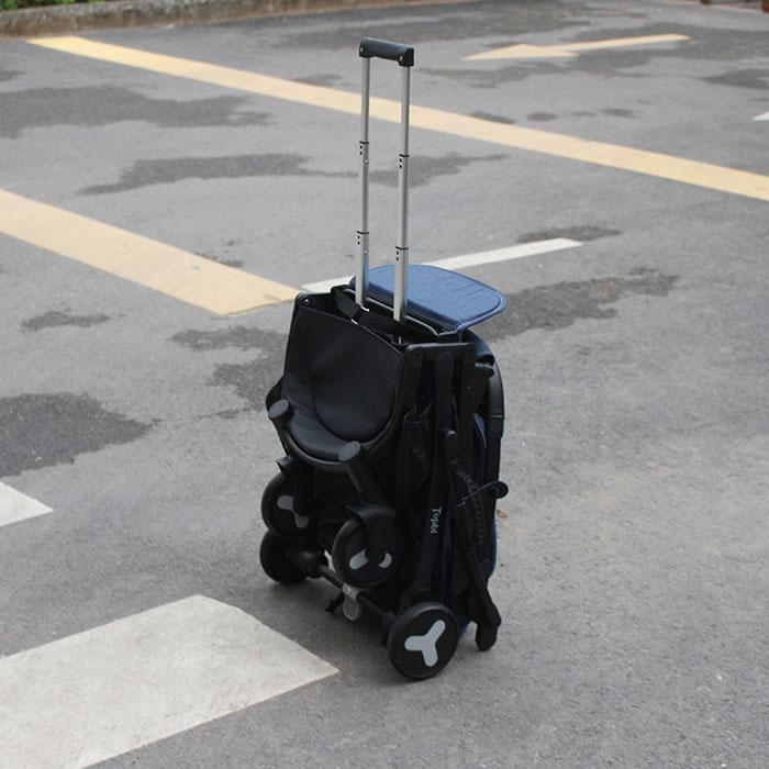 Xe đẩy cao cấp Topbi S600 gấp gọn kéo vali 8